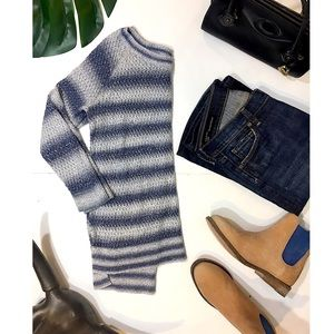 Lou & Grey Striped 3/4 Sleeve Sweater